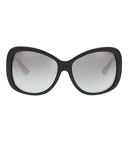 MICHAEL KORS Butterfly cat-eye sunglasses (Black+off+white