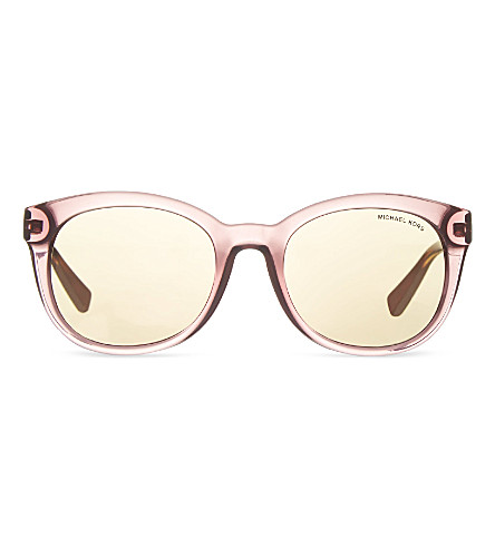 MICHAEL KORS Tortoise round sunglasses (Rose+tortoise
