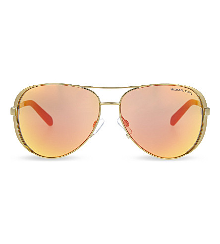 MICHAEL KORS Chelsea aviator sunglasses (Gold