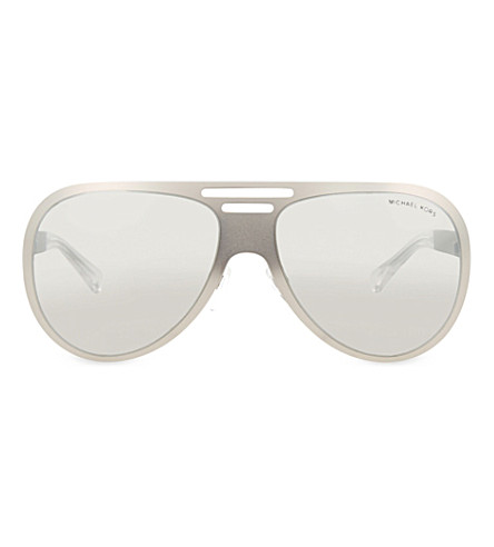 MICHAEL KORS MK5011 aviator sunglasses (Satin+silver