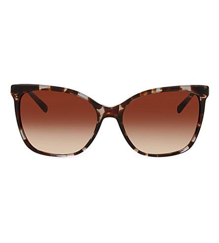 MICHAEL KORS MK 6029 havana square-frame sunglasses (Black+tortoise