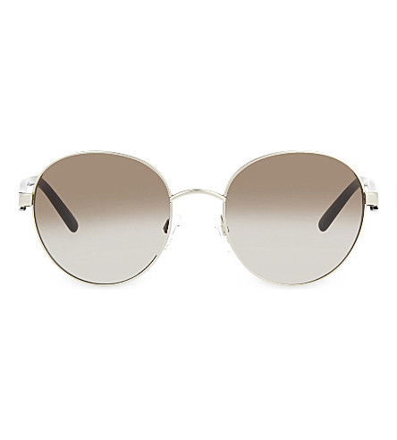 MICHAEL KORS MK1007 Silver-toned round sunglasses (Silver