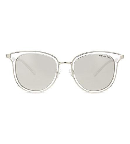 MICHAEL KORS MK1010 Adrianna I round-frame sunglasses (Clear