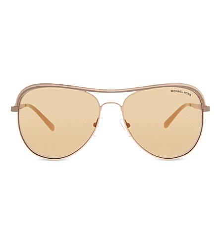 michael kors aviators h0tv  MICHAEL KORS MK1012 Vivianna I aviator sunglasses Rose+gold