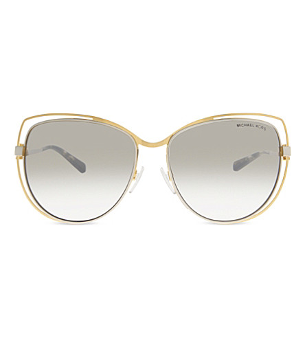 MICHAEL KORS MK1013 Audrina I cat eye-frame sunglasses (Gold