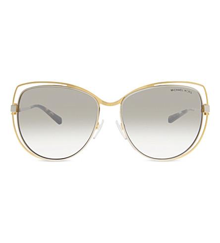 MICHAEL KORS MK1013 Audrina 猫眼镜框太阳镜 (金
