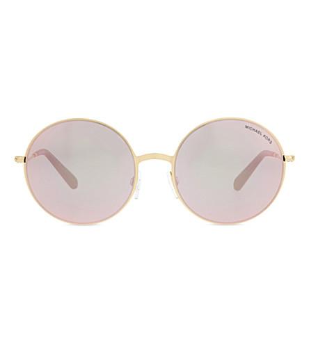 MICHAEL KORS Mk5017 Kendall II round-frame sunglasses (Gold