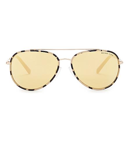 MICHAEL KORS Mk1019 aviator sunglasses (Pink+tortoise