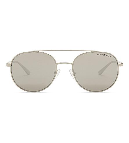 MICHAEL KORS Mk1021 round-frame sunglasses (Silver