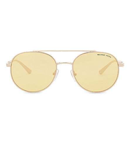 MICHAEL KORS Mk1021 round-frame sunglasses (Rose+gold
