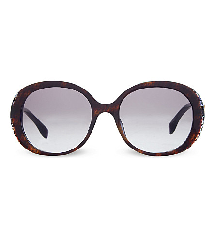 FENDI FF0001 oval sunglasses (Black+brown