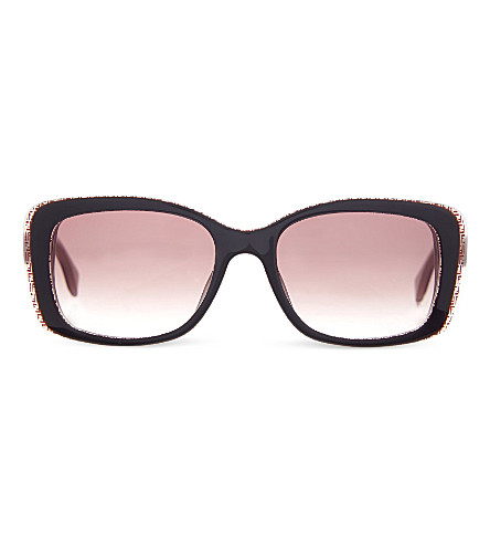 FENDI FF0002 rectangular sunglasses (Brown