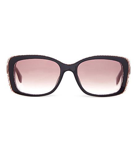 FENDI FF0002 rectangular sunglasses (Brown