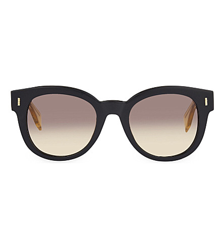 FENDI FF0026/S round sunglasses (Black