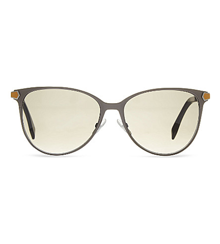 FENDI Round sunglasses (Silver+brown