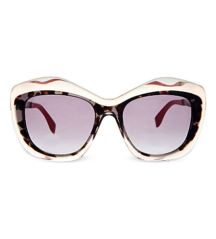 FENDI FF0029 cat eye sunglasses (Silver+grey