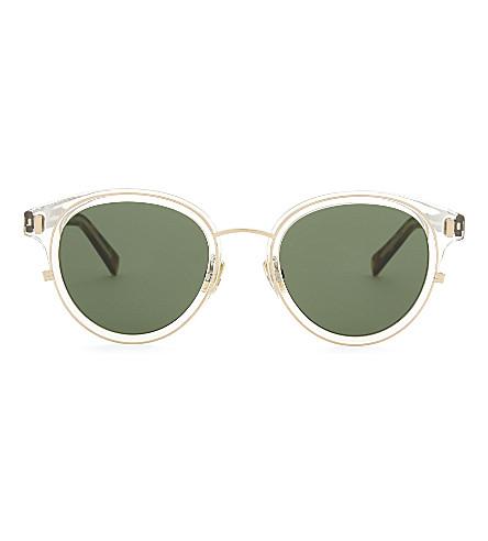 DIOR Blacktie2.0S K oval-frame sunglasses (Gold+brown
