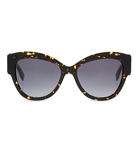 FENDI Brown cat eye sunglasses (Tortoise+black