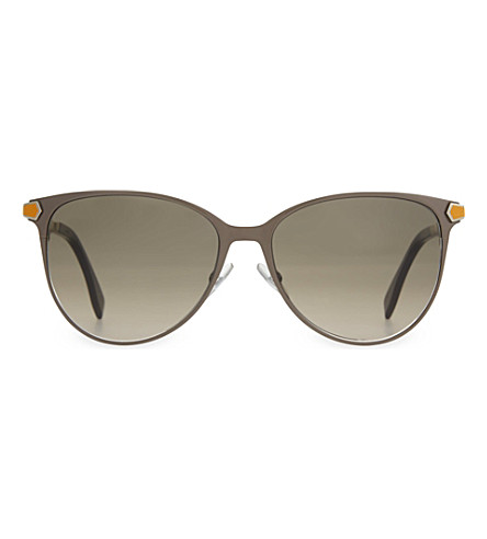 FENDI FF0022 round sunglasses (Black+gold