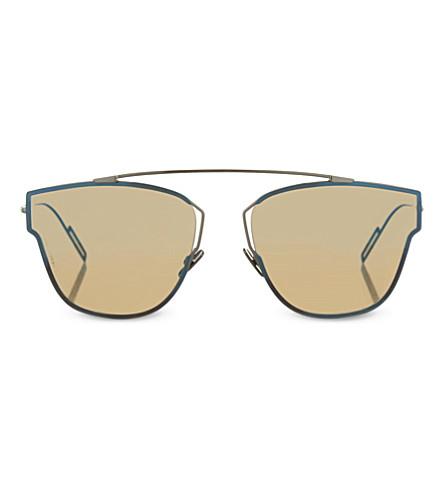 DIOR DIOR0204 square frame sunglasses (Silver+white