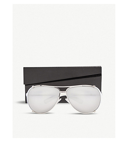 DIOR NAJSS pilot sunglasses (Silver+white