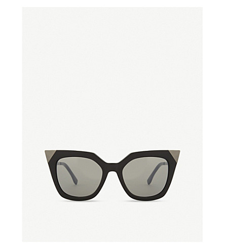 FENDI FF0060 cat-eye frame sunglasses (Black+grey