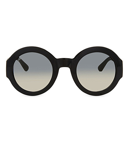GUCCI GG3788 round-frame sunglasses (Black+matte