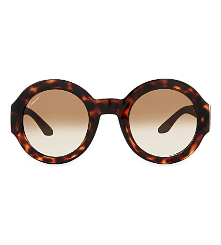 GUCCI GG3788 round sunglasses (Tortoise+brown