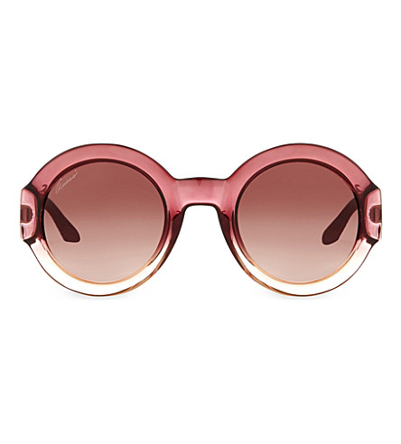 GUCCI Gg3788 round-frame sunglasses (Burgundy