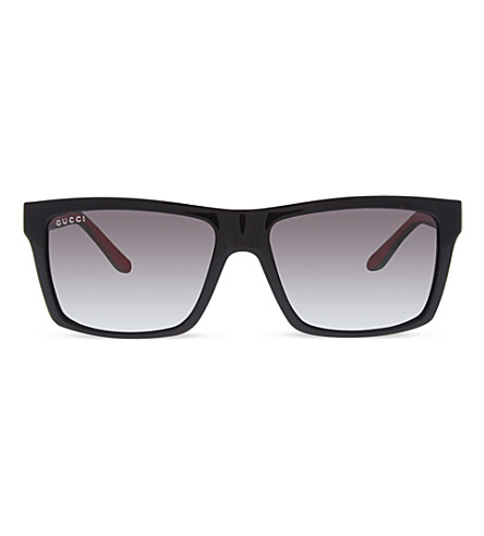 GUCCI GC1013 black square sunglasses (Black+green