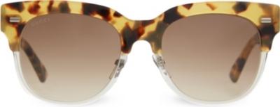 Tortoise Shell Glasses Half Frame : GUCCI - G3744 tortoise shell half-frame sunglasses ...