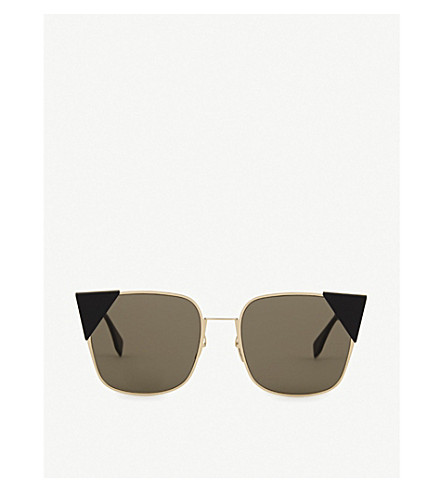 FENDI Lei rose gold cat-eye sunglasses (Gold