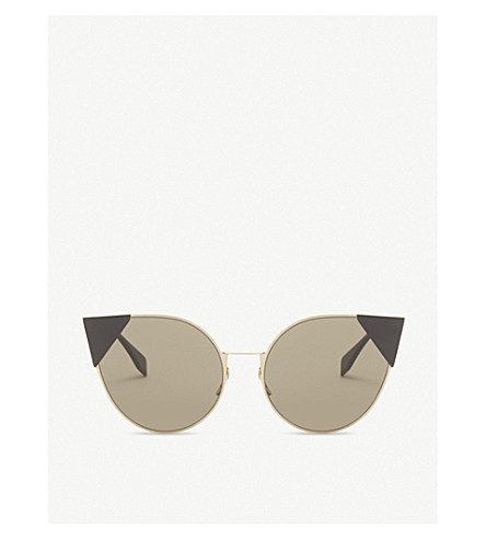 FENDI Ff0190/s Lei cat-eye frame sunglasses (Gold+pink
