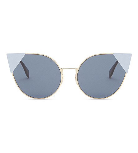 FENDI Ff0190/s Lei cat-eye frame sunglasses (Gold