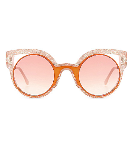 FENDI FF0137 round sunglasses (Orange