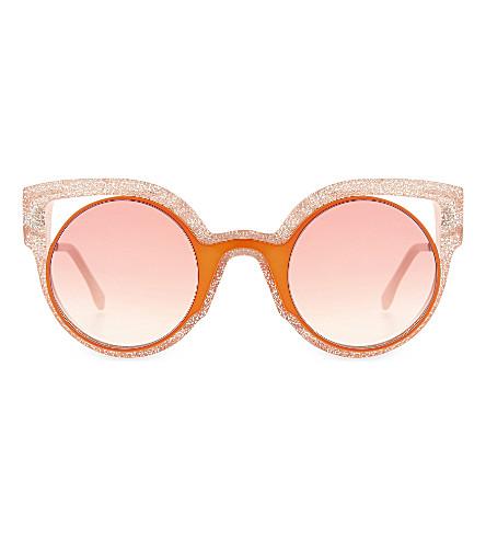 FENDI FF0137 round sunglasses (Orange