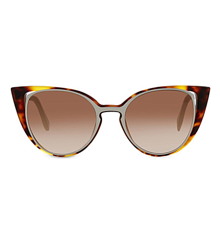 FENDI FF0136 cat-eye sunglasses (Tortoise