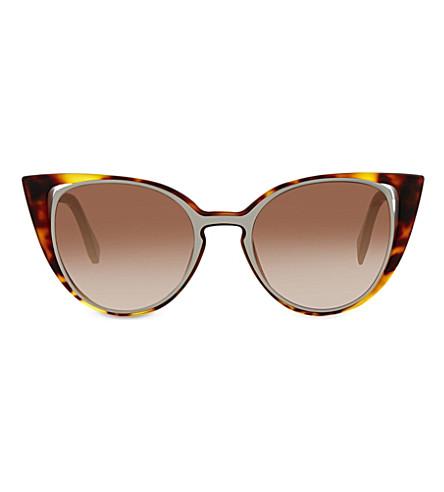 FENDI FF0136 cat-eye sunglasses (Tortoise