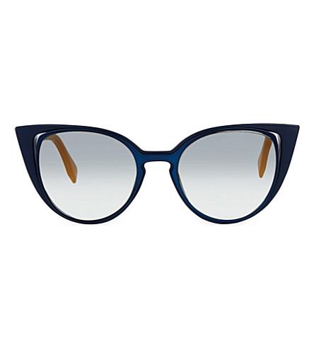 FENDI FF0136 cat-eye sunglasses (Blue