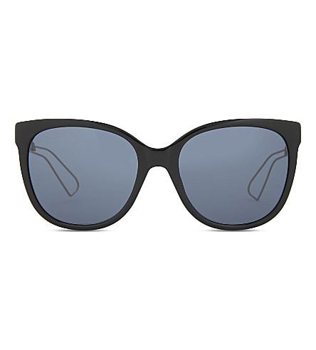 DIOR Diorama3 round-frame sunglasses (Black+pink