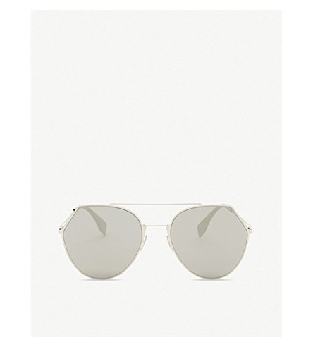 FENDI Ff0194/s pilot round-frame sunglasses (Gold+light