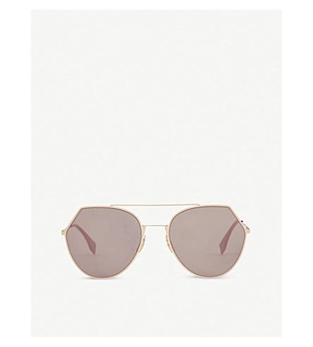 FENDI FF0194 pilot sunglasses (Gold+brown