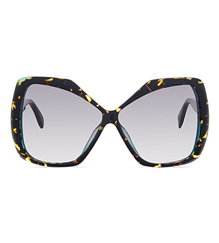 FENDI FF0092 Tortoise rectangle sunglasses (Tortoise