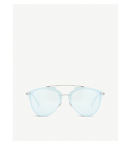 DIOR DiorReflected aviator-frame sunglasses (Gunmetal