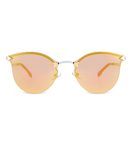 FENDI FF0040 mirrored round sunglasses (Grey