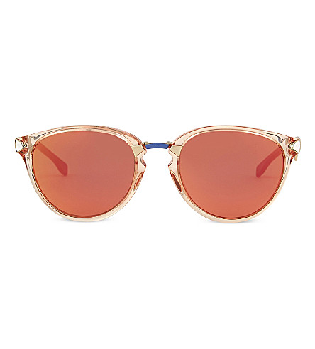 FENDI Ff0039 oval-frame sunglasses (Blue+light