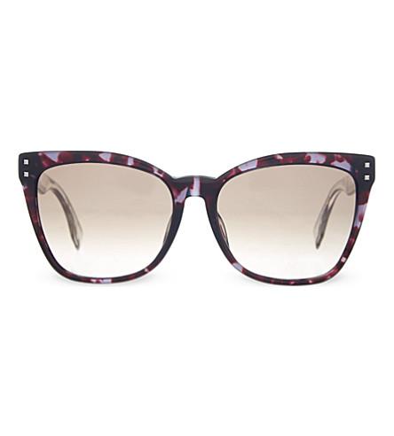 FENDI FF0098/F/S tortoise shell cat eye sunglasses (Grey