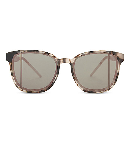 DIOR Diorstop tortoiseshell square-frame sunglasses (Tortoise+pink