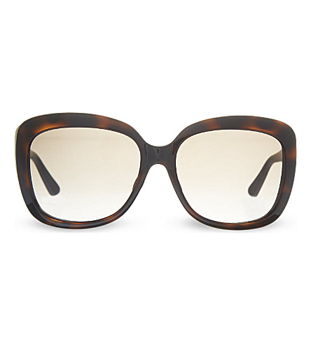 DIOR REQ10 Tortoise shell oversized square sunglasses (Tortoise+gold
