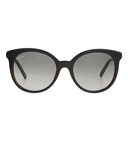 GUCCI G3674 round tortoise shell sunglasses (Black+tortoise